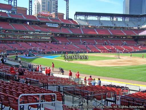 Seat view from section 138 at Busch Stadium, home of the St. Louis Cardinals