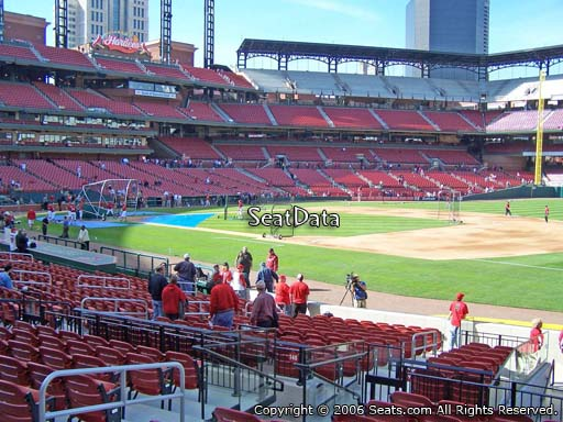 Seat view from section 139 at Busch Stadium, home of the St. Louis Cardinals