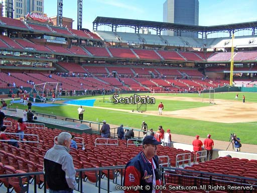 Seat view from section 140 at Busch Stadium, home of the St. Louis Cardinals
