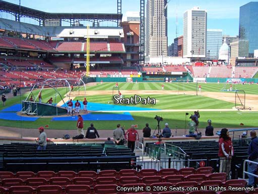 Seat view from section 146 at Busch Stadium, home of the St. Louis Cardinals