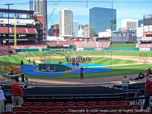 Seat view from section 148 at Busch Stadium, home of the St. Louis Cardinals