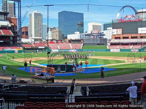 Seat view from section 149 at Busch Stadium, home of the St. Louis Cardinals