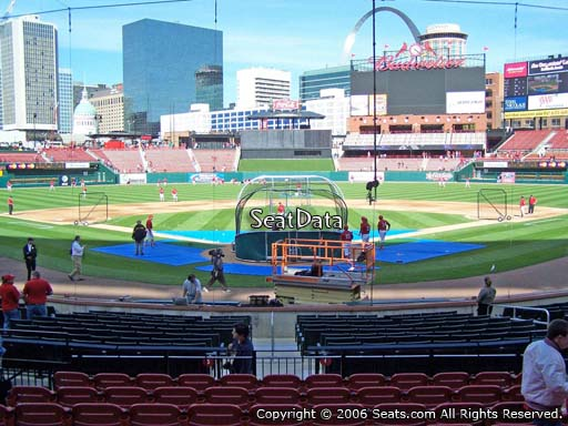 Seat view from section 150 at Busch Stadium, home of the St. Louis Cardinals