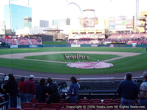Seat view from section 151 at Busch Stadium, home of the St. Louis Cardinals