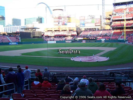 Seat view from section 152 at Busch Stadium, home of the St. Louis Cardinals