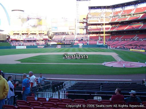Seat view from section 154 at Busch Stadium, home of the St. Louis Cardinals