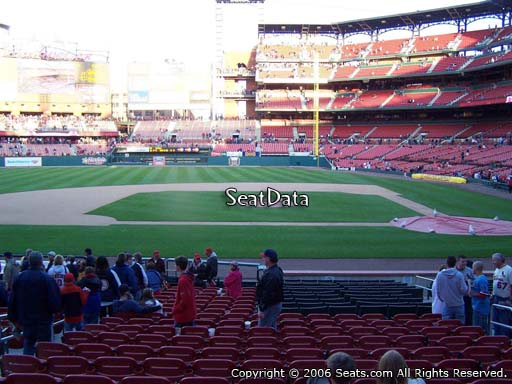 Seat view from section 155 at Busch Stadium, home of the St. Louis Cardinals
