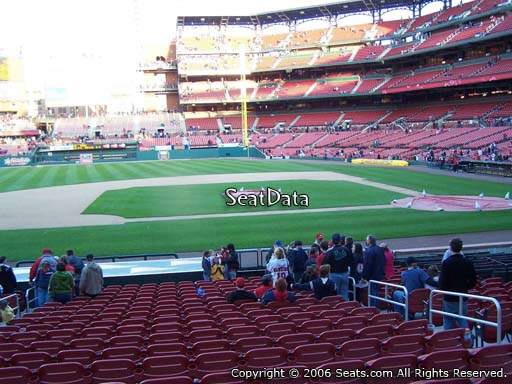 Seat view from section 156 at Busch Stadium, home of the St. Louis Cardinals
