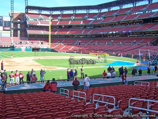 Seat view from section 158 at Busch Stadium, home of the St. Louis Cardinals
