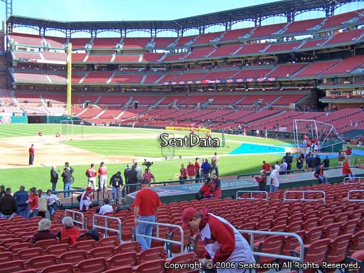 Seat view from section 159 at Busch Stadium, home of the St. Louis Cardinals
