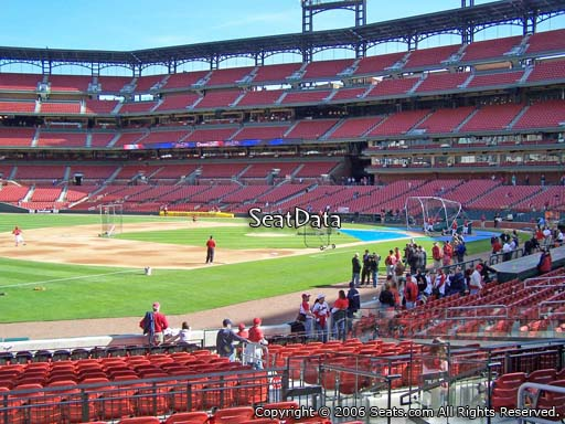 Seat view from section 162 at Busch Stadium, home of the St. Louis Cardinals