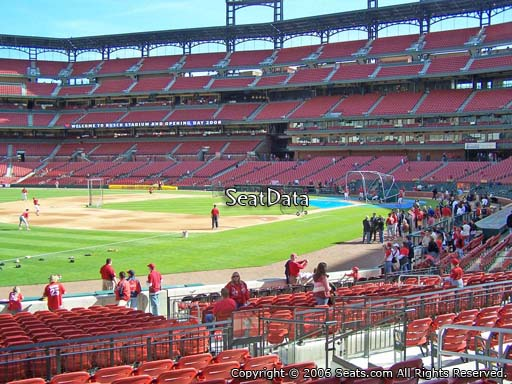 Seat view from section 163 at Busch Stadium, home of the St. Louis Cardinals