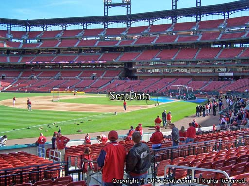 Seat view from section 164 at Busch Stadium, home of the St. Louis Cardinals