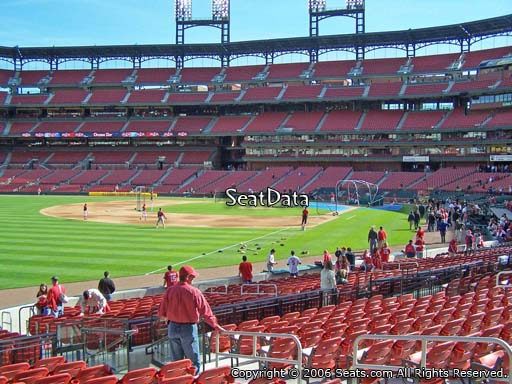 Seat view from section 166 at Busch Stadium, home of the St. Louis Cardinals
