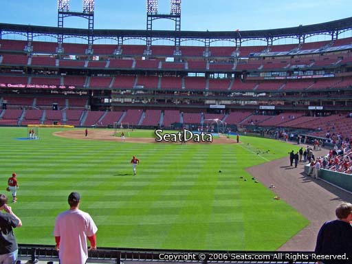 Seat view from section 171 at Busch Stadium, home of the St. Louis Cardinals