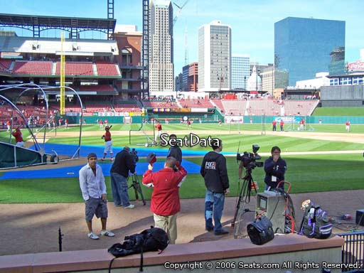 Seat view from section 2 at Busch Stadium, home of the St. Louis Cardinals