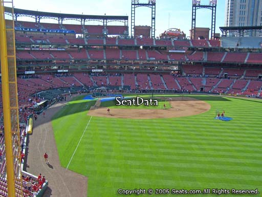 Seat view from section 228 at Busch Stadium, home of the St. Louis Cardinals