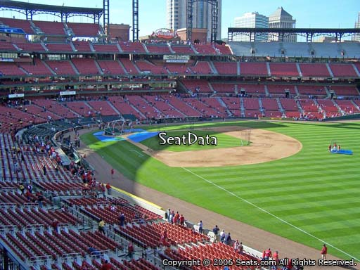 Seat view from section 233 at Busch Stadium, home of the St. Louis Cardinals