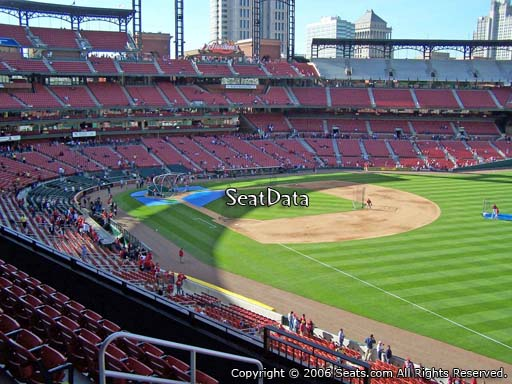 Seat view from section 234 at Busch Stadium, home of the St. Louis Cardinals