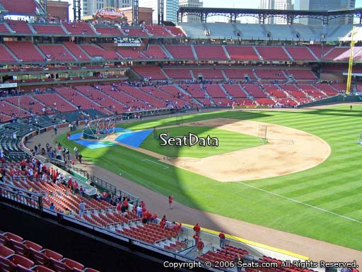 Seat view from section 237 at Busch Stadium, home of the St. Louis Cardinals