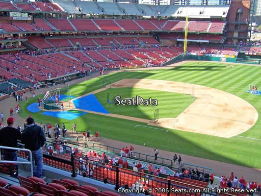 Seat view from section 241 at Busch Stadium, home of the St. Louis Cardinals