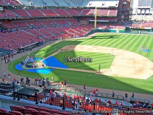 Seat view from section 242 at Busch Stadium, home of the St. Louis Cardinals