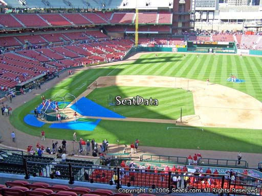 Seat view from section 244 at Busch Stadium, home of the St. Louis Cardinals