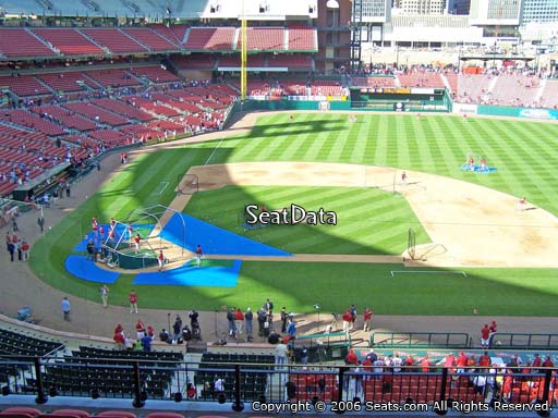 Seat view from section 245 at Busch Stadium, home of the St. Louis Cardinals