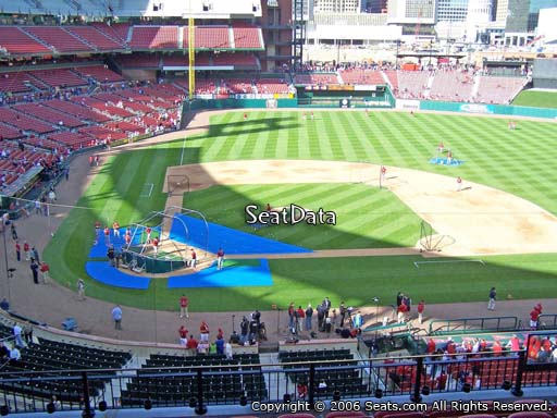 Seat view from section 246 at Busch Stadium, home of the St. Louis Cardinals