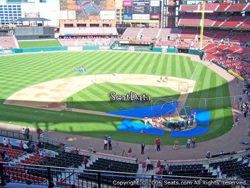 Seat view from section 253 at Busch Stadium, home of the St. Louis Cardinals