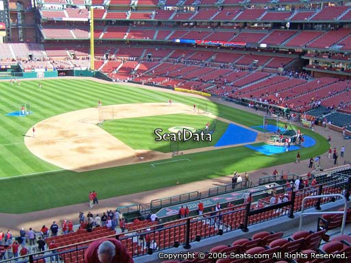 Seat view from section 259 at Busch Stadium, home of the St. Louis Cardinals