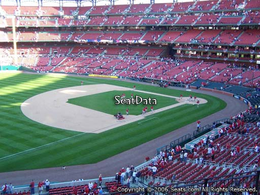 Seat view from section 263 at Busch Stadium, home of the St. Louis Cardinals