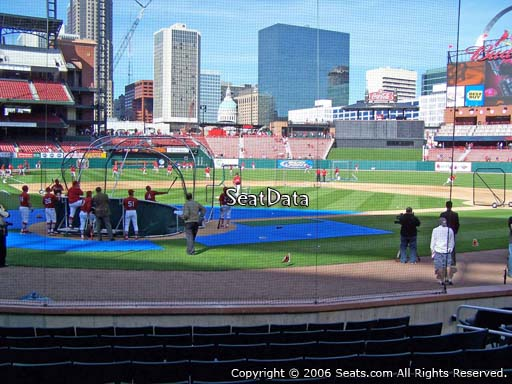 Seat view from section 3 at Busch Stadium, home of the St. Louis Cardinals