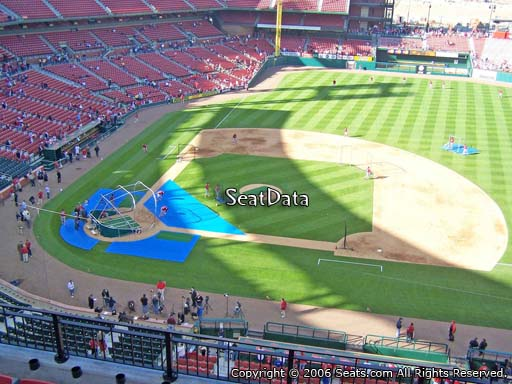 Seat view from section 344 at Busch Stadium, home of the St. Louis Cardinals