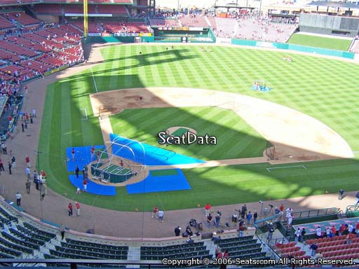 Seat view from section 347 at Busch Stadium, home of the St. Louis Cardinals