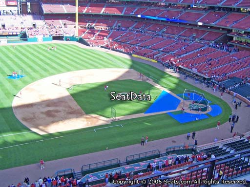 Seat view from section 358 at Busch Stadium, home of the St. Louis Cardinals