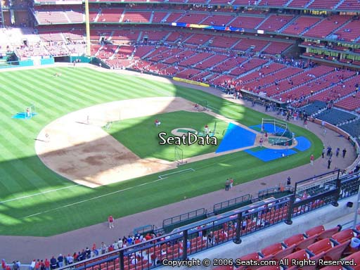 Seat view from section 359 at Busch Stadium, home of the St. Louis Cardinals