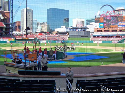 Seat view from section 4 at Busch Stadium, home of the St. Louis Cardinals
