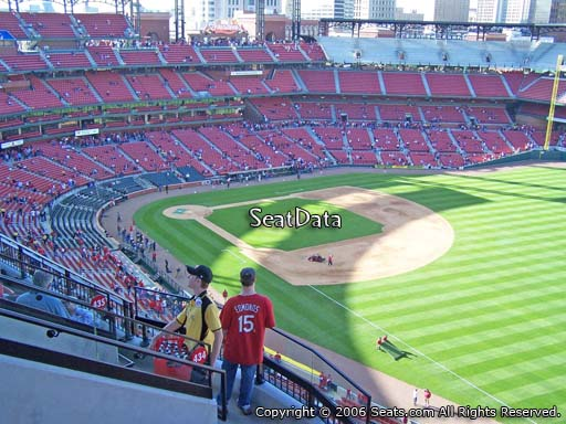 Seat view from section 434 at Busch Stadium, home of the St. Louis Cardinals