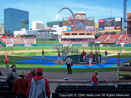 Seat view from section 5 at Busch Stadium, home of the St. Louis Cardinals