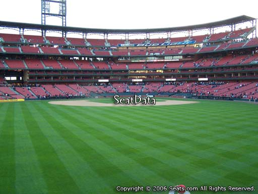 Seat view from bleacher section 195 at Busch Stadium, home of the St. Louis Cardinals