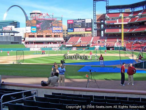 Seat view from section 7 at Busch Stadium, home of the St. Louis Cardinals
