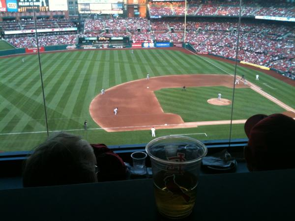 View from the Bank of America Club at Busch Stadium