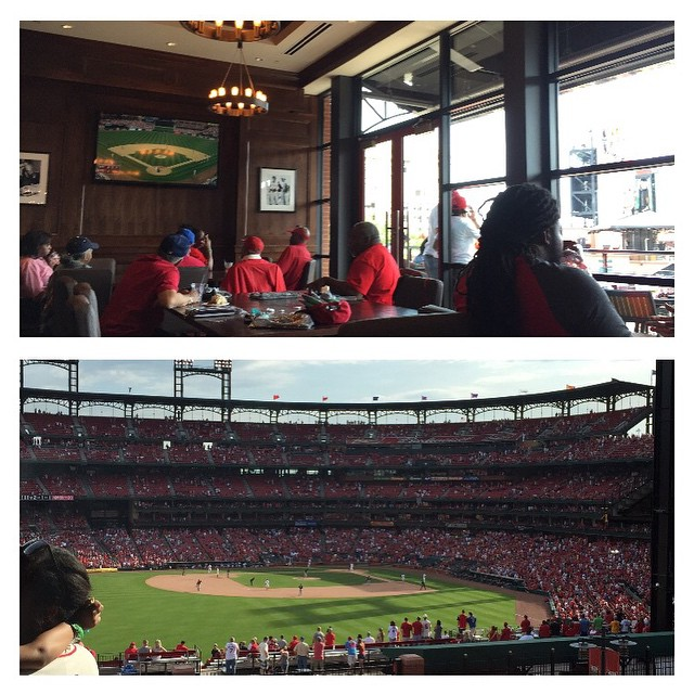 View from the Branch Rickey Room at Cardinals Nation at Ballpark Village