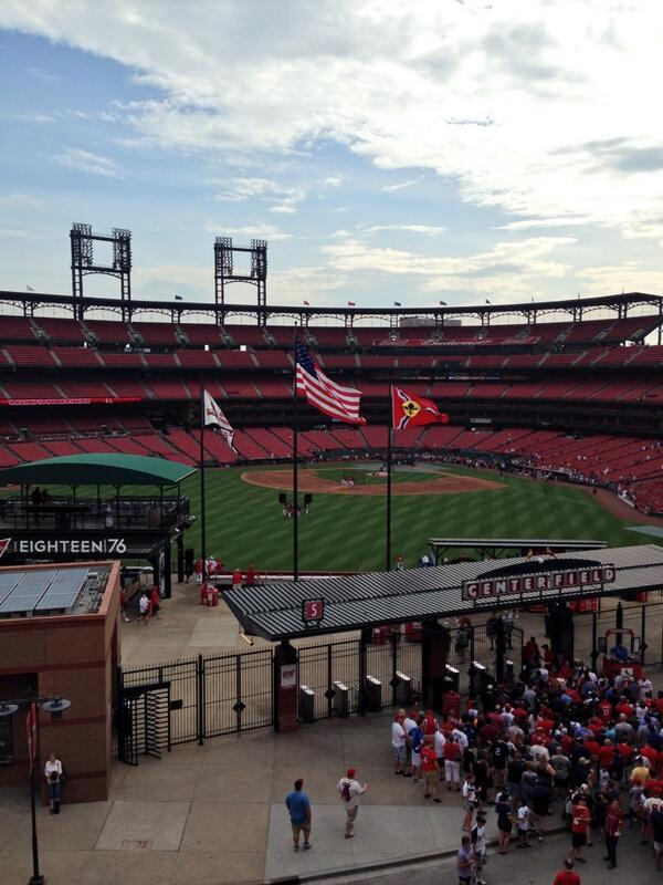 View from the Budweiser Brew House Deck at Ballpark Village