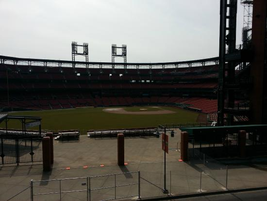 View from the Cardinals Nation Balcony at Ballpark Village