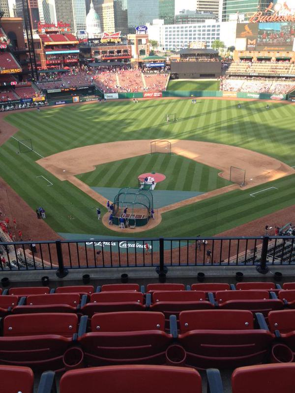 View from the Infield Pavilion Seats at Busch Stadium
