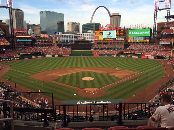 View from the Redbird Club at Busch Stadium