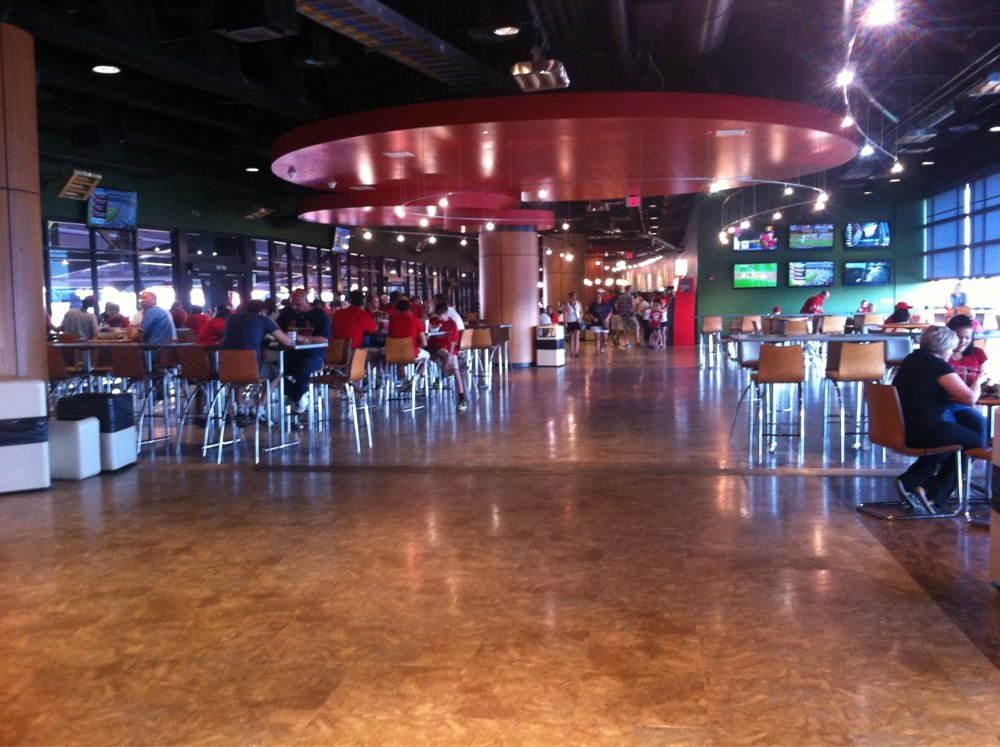 View of the Redbird Club area at Busch Stadium
