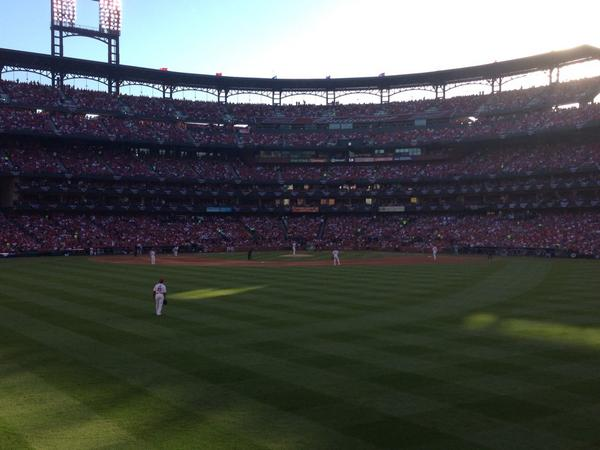 View from the Bleachers at Busch Stadium